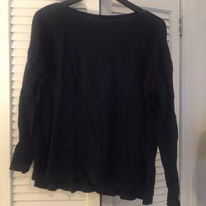 Vince Navy Dolman Cotton sweater